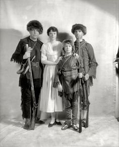 """Washington, D.C., circa 1923. """"Daniel Boone group.""""  (Not sure if this is the real group or not)"""