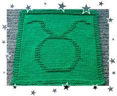 Taurus Zodiac Symbols, Taurus, Squares, Knitting Patterns, Blanket, Crochet, How To Make, Knit Patterns, Bobs