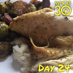 """""""Anyone else HANGRY* after a tough morning workout?  I came home from Crossfit today and literally thanked the heavens for the amount of already prepped foods in the fridge. Within 3 minutes I had a warm plate of leftover Balsamic Brussels sprouts with prosciutto, roasted chicken, and mashed cauliflower. Feeling great today - could this be tiger blood? . *Hangry: a state of anger caused by the need for food! #crossfit #hangry #whole30 #whole100 #CTLTwhole100 #whole30homies #2015IGwhole30…"""