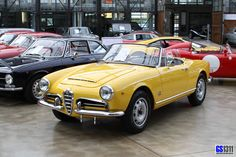https://flic.kr/p/dsYQFz | 1962 - 1965 Alfa Romeo Giulia 1600 Spider | The Alfa Romeo Giulia (105 series) is an Alfa Romeo automobile. Alfa was one of the first manufacturers to put a powerful engine in a light-weight car for mainstream production. The Spider, Sprint and Sprint Speciale Giulias introduced together with the Giulia sedan in 1962 were rebadged and updated versions of earlier Giulietta models (series 101), now with a 1.6 litre instead of a 1.3 litre engine. Easiest to…