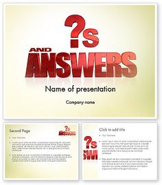http://www.poweredtemplate.com/11621/0/index.html Red Questions and Answers PowerPoint Template