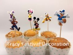 Find More Cake Decorating Supplies Information about Hot 24pcs lovely Mickey & Minnie mouse Cupcake Topper Pick,birthday party decor,kids evnent party favor,Cartoon Party decoration,High Quality mouse christmas decorations,China mouse flat Suppliers, Cheap mouse mobile from Tracy Festivals Decoration on Aliexpress.com