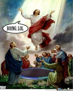 The ascension is the climax of the story of Jesus and the key to understanding the church. The ascension connects the story of Jesus with the church. Fete De L Ascension, Ascension Day, Jesus Pictures, Funny Pictures, Jesus Reyes, Image Jesus, The Meta Picture, Biblical Art, Christian Art
