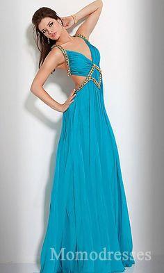 Sexy Sleeveless Natural A-Line Taffeta Prom Dress Sale momodresses25713