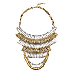 European Vintage Tassel Multi-layer Necklace Foreign Trade Hot Swaeter Necklace Clavicle Necklace Ornament white