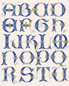 Images Alphabet, Alphabet Art, Letter Art, Graffiti Alphabet, Creative Lettering, Lettering Styles, Hand Lettering, Celtic Symbols, Celtic Art