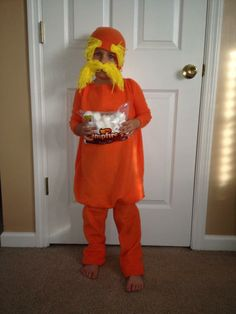 Read Across America Week - Dr. Lorax Costume, Dr Seuss Costumes, Halloween Costumes, Literary Costumes, Dr Seuss Birthday, Book Week Costume, The Lorax, School Dresses, Dr Suess