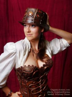 #steampunk #corset by Organic Armor, photo: KonstantKarma