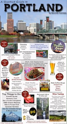 Your one-stop quick guide to everything you must see, do, eat and drink in Portland, Oregon Informations About Shortcut Travel Guide to Portland, Oregon Pin You can easily use m Oregon Travel, Oregon Vacation, Oregon Road Trip, Travel Portland, Downtown Portland Oregon, Portland Oregon Hotels, Portland Food, Portland Shopping, Portland City