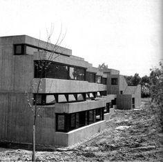 germanpostwarmodern:  Secondary School (1972) in Nottuln, Germany, by Wolfgang & Ruth Pantenius