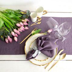 Lavender color Linen Napkins set of 6  Dinner napkins