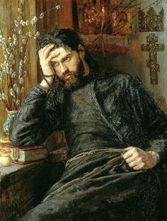 The Monk-Inok. (1897) by Konstantin Savitskiy