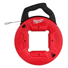 Pull wire through a tight-spaced conduit or raceway effortlessly with the help of this unique Milwaukee Steel Fish Tape. Milwaukee Tools, Milwaukee M18, Electrical Supplies, Electrical Equipment, Fishing Techniques, Flexibility, The 100, Tape, Band
