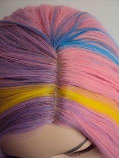 Unicorn Rainbow Costume Wig Alternative Image