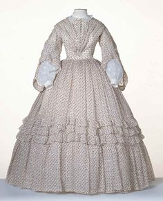 1850 Clothing Styles for Women | Inspiration pictures of 1850s-1860 original sheer dresses: