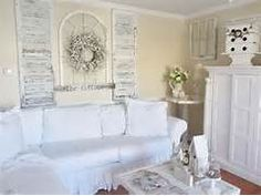 Shabby Chic Cottage Decor Ideas: Shabby Chic Cottage Decor White Sofa ...