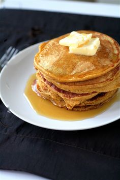 The Best Pumpkin Pancakes Ever - One Good Thing by Jillee