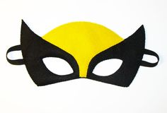 Wolverine Superhero felt mask 2 years  adult size  Black