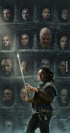 Arya Stark (No one) and Needle - Game of Thrones - Fan art: Dessin Game Of Thrones, Arte Game Of Thrones, Game Of Thrones Artwork, Game Of Thrones Arya, Game Of Thrones Poster, Fan Art, Le Clan, Game Of Thones, Film Disney