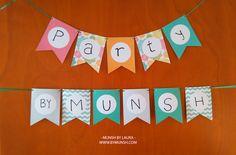 MUNSH: Guirnaldas personalizables para tus fiestas – Imprimibles gratis