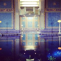 """That thing... is a high dive. @ Hearst Castle Indoor Pool"""