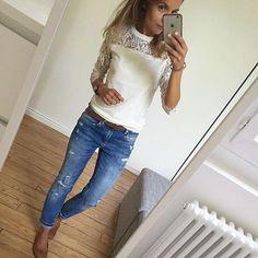 Coucou ! #ootd#lookoftheday#dailylook#dailyoutfit#dailyig#igers#igfashion#fashionpost#fashiondiaries#whatiwore#wiwt#metoday#mylook#instafashion pull#monoprix jean#Zara ballerines#repetto