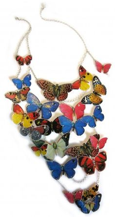 Butterfly fantasy necklace 19N39