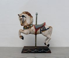 Vintage Cast Iron Carousel Horse Door Stop by Suite22 on Etsy