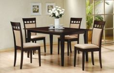 5 Pc. Dining Table + 4 UPL Back Chairs at $499 with Free Delivery in the Henderson/Las Vegas area