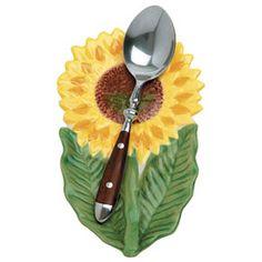 Sunflower Spoon Rest - Organization & Decor - Kitchen - Walter Drake