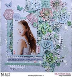 Beautiful layout created by @emmystammler for @merlyimpressions using the gorgeous Greenhouse Kaisercraft Collection. #kaisercraft…