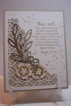 Rose Sympathy by pvilbaum - Cards and Paper Crafts at Splitcoaststampers Sympathy Cards, Greeting Cards, Christian Cards, Card Sentiments, Verses For Cards, Stamping Up Cards, Paper Cards, Flower Cards, Homemade Cards