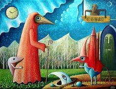 Leszek Kostuj's Storybook Like Paintings of Otherworldly Characters | Hi-Fructose Magazine