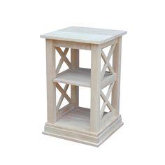 Beachcrest Home Cosgrave Solid Wood Floor Shelf End Table Unfinished Furniture, Unfinished Wood, Western Furniture, Table Furniture, Furniture Ideas, Simple Furniture, Furniture Showroom, French Furniture, Refurbished Furniture
