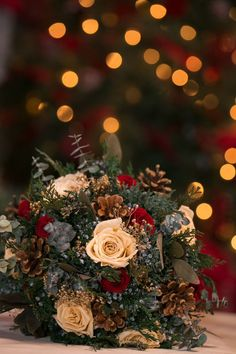 December Wedding Ideas You NEED To See! - Glittery Bride - - This breathtaking wedding at Pond House Cafe in Connecticut has so many amazing December wedding ideas that will have you swooning! Christmas Wedding Bouquets, Christmas Wedding Decorations, Fall Wedding, Dream Wedding, Holiday Wedding Ideas, Outside Winter Wedding, Vintage Christmas Wedding, Rustic Wedding, Elegant Winter Wedding