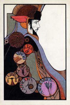 Astrology: Zodiac Sign Art (Artist: David Palladini, 1969) | #astrology