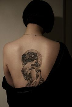 If I ever do I tattoo it is going to be Mucha. I love his work. Now this is worth having a tattoo.