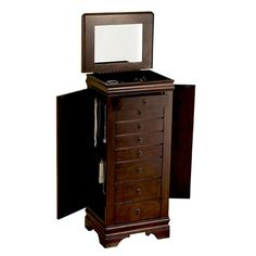 Louis Philippe Marquis Cherry Eight-Drawer Jewelry Armoire