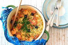 On ne s'arrête plus, on est addicts ! Chorizo, Japchae, Ethnic Recipes, Food, Shrimp Spaghetti, Dish, Recipes, Meals, Yemek