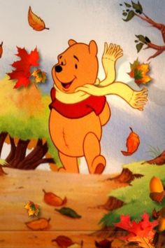quenalbertini: Winnie The Pooh in autumn days Disney Winnie The Pooh, Winne The Pooh, Winnie The Pooh Quotes, Winnie The Pooh Friends, Winnie The Pooh Pictures, Cute Disney, Disney Art, Disney Pictures, Cute Pictures
