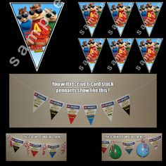 ALVIN AND THE CHIPMUNKS TRIANGLE PENNANTS
