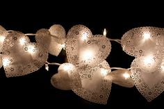 doily string lights   cogs & cupcakes