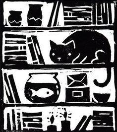 Laura Middleton Illustration – Graffiti World Lino Art, Illustrations, Illustration Art, Linoprint, Stamp Printing, Fish Print, Tampons, Linocut Prints, Woodblock Print