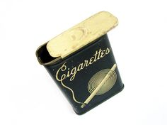 Vintage Art Deco Cigarette Case In Gatsby Style Black - Porte Cigarettes. Vintage Jewelry by My Chouchou on Etsy.