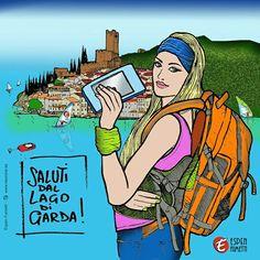 #turismo #lake #malcesine #torri #gardalake #gardase #lagodigarda #turism #turista #lago @espen_fumetti #veronafumetti #fumetto #ESPENFUMETTI #fumetto #veronafumetti #giorgioespen #model #ritratto #debora #verona #fashiondream #sweet #valpolicella #illustratore #fumettista