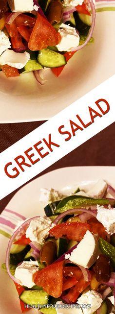 The Greek name of the salad, Greek salad Jamie Oliver, is a good Greek salad Greek Yogurt Salad Dressing, Greek Chicken Salad, Greek Quinoa Salad, Greek Salad Pasta, Easy Greek Salad Recipe, Best Greek Salad, Greek Salad Recipes, Healthy Salad Recipes, Salad Toppings