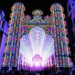 Cattedrale con 55000 #luci a #led