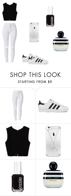 """""""Untitled #50"""" by swager-123 ❤ liked on Polyvore featuring adidas, Zara, Essie and Marc Jacobs"""