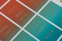Screen printed business cards - clouse up
