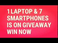 1 HP LAPTOP & 7 SMARTPHONE IS ON GIVEAWAY IN INDIA WIN NOW! India Win, Giveaway, Smartphone, Laptop, Laptops, The Notebook